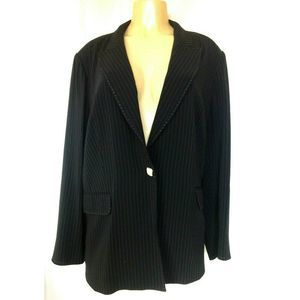 Marina Rinaldi Blazer Jacket Striped One Button 29